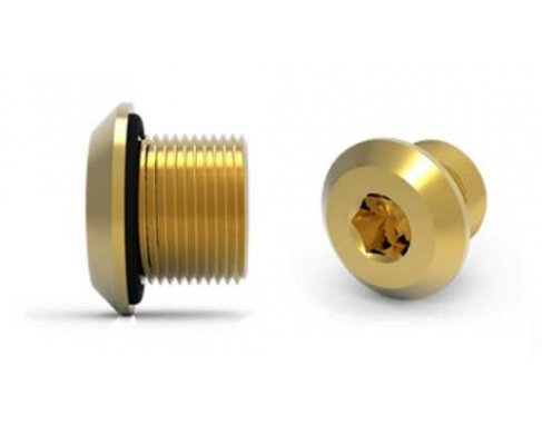 HAWKE 487 DOMED HEAD BRASS STOPPING PLUG, M20, EXD/EXE, ATEX/IECE, IP66